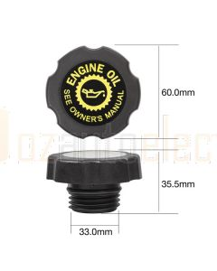 Tridon TOC523 Oil Cap - Plastic Screw (Fine Thread)