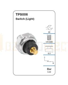 Tridon TPS006 Oil Pressure Switch (Light)