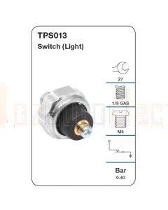 Tridon TPS013 Oil Pressure Switch (Light)