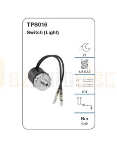 Tridon TPS016 Oil Pressure Switch (Light)