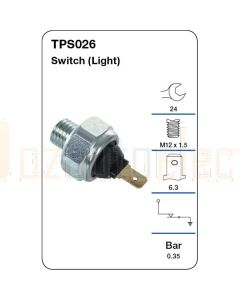 Tridon TPS026 Oil Pressure Switch (Light)
