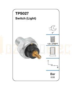 Tridon TPS027 Oil Pressure Switch (Light)