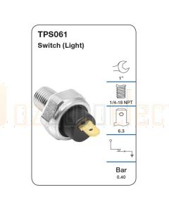 Tridon TPS061 Oil Pressure Switch (Light)