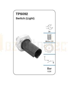 Tridon TPS092 Oil Pressure Switch (Light)