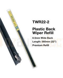 Tridon TWR22-2 Wiper Refill Plastic Wide Back - 560mm (Pair Pack)