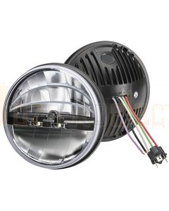 "Narva 72102 9-33V 7"" L.E.D High/Low Beam Free Form Headlamp Insert with park Light Function"