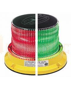 Hella Mining HM450GRDIR UltraRAY-R Dual Color LED Warning Beacon - Green / Red Direct Mount