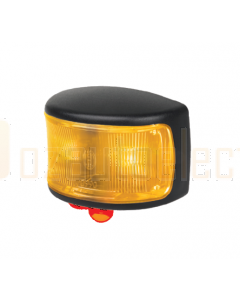 Hella LED Supplementary Side Marker Lamp Amber 12/4V CAB Marker Black Pkt 8