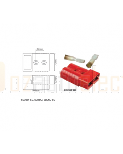 Ionnic High Current Connector - Red 350A