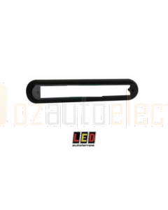 LED Autolamp Black Surface Mount Single Bracket for 235mm Strip Lights