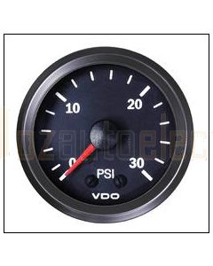 VDO 150077011 Pressure Gauge Mechanical 0-30 PSI Air Oil Fuel