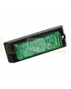 Britax Green 3 LED Emergency Lamp 12/24V Surface Mount