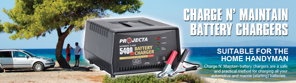 Projecta Charge n' Maintain Car Battery Chargers