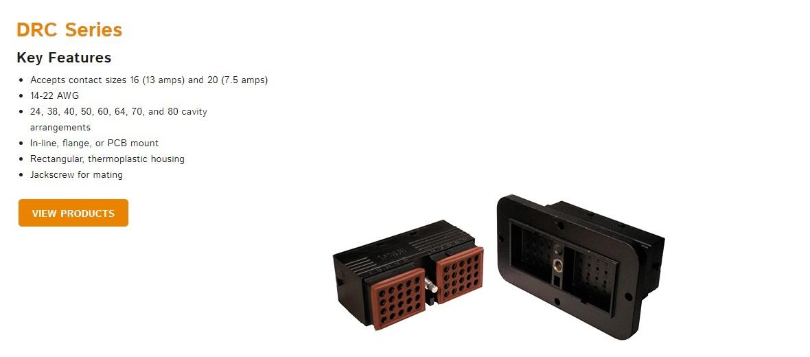 Deutsch DRC Series Connectors