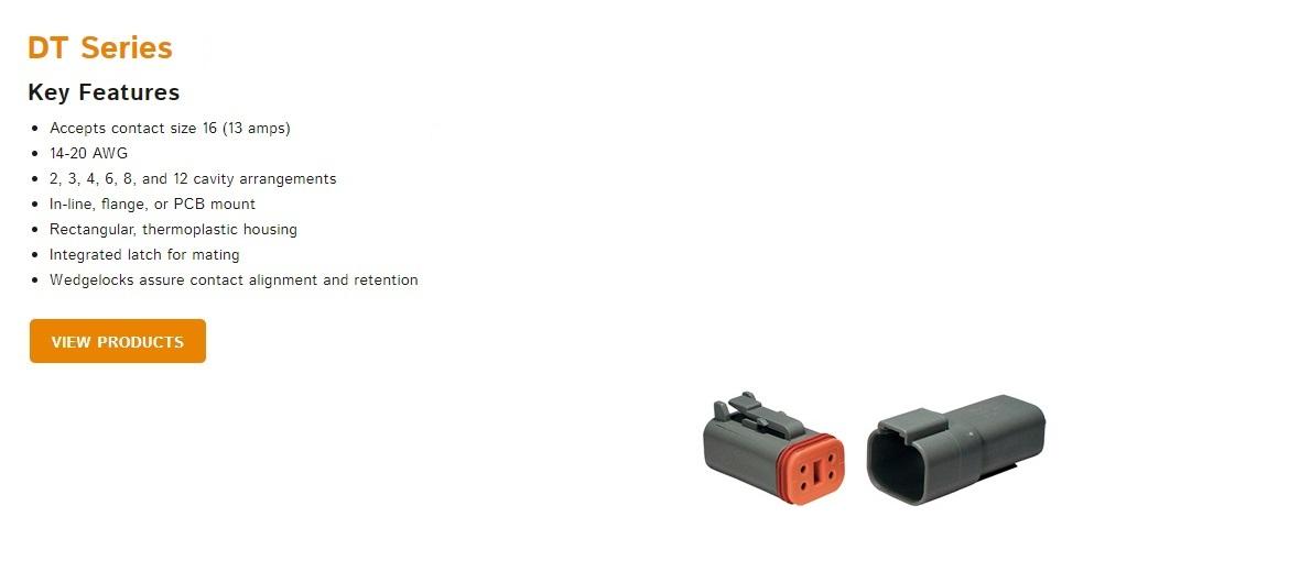 Deutsch DT Series Connectors